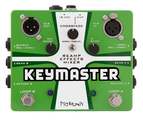 Pigtronix Keymaster Series / Parallel True Bypass Effects Mixer - L.A. Music - Canada's Favourite Music Store!