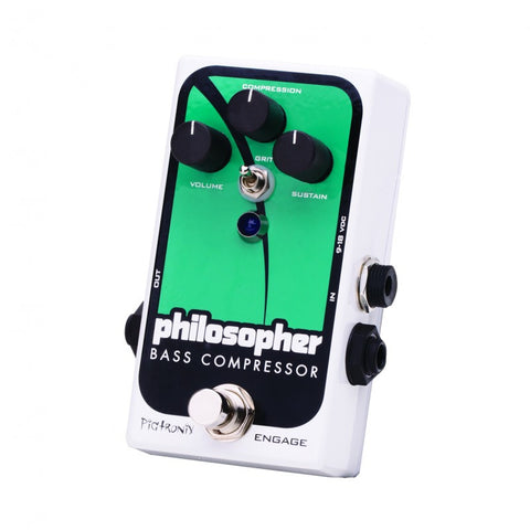 Pigtronix Philosopher Bass Compressor Specialty Bass Comp with Blend - L.A. Music - Canada's Favourite Music Store!