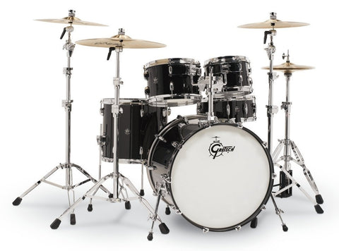 Gretsch Drums Renown Piano Black 4pc Drum Shell Kit RN2-E8246-PB