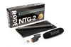 Rode NTG-2 Shotgun Condenser Microphone includes Pouch - Mic Holder and Windscreen
