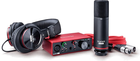 Focusrite 2-in / 2-out USB Audio Interface Recording Bundle W/ Condenser Microphone And Headphones SCARLETT-SOLO-STU-3RD-GEN