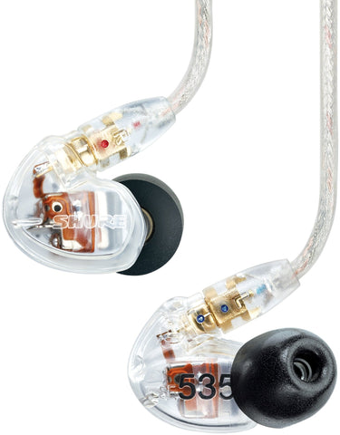Shure SE535-CL Clear In-Ear Monitor Sound Isolating Earphones