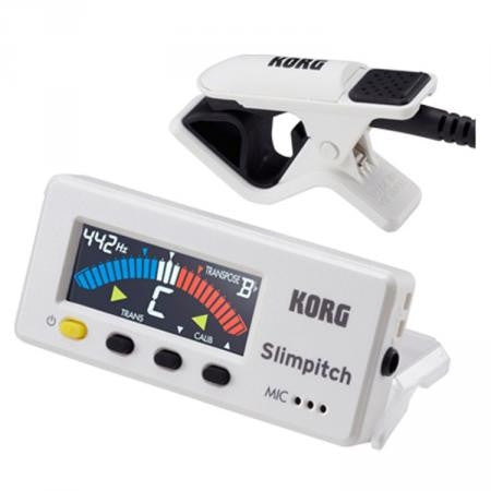 Korg Compact Chromatic Orchestral Tuner Pearl White SLM-1CM-PW