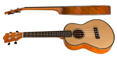 Lanikai Ukulele SOTTU T Thinline Solid Spruce Top TunaUke Equipped Tenor - L.A. Music - Canada's Favourite Music Store!