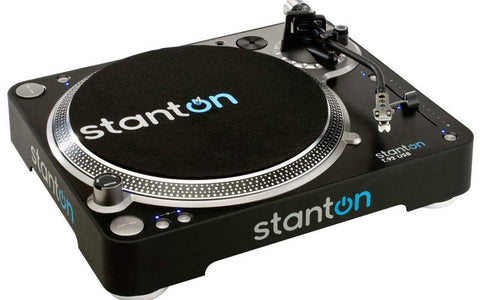 Stanton Direct-Drive, S-arm USB Turntable with 500V3 Cartridge T92USB-B