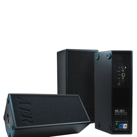 AER AS 281/2 120W Active Tiltback FullRange System with 2x8 Speaker Black