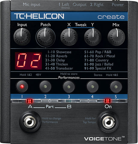 TC Helicon VoiceTone Create Vocal Pedal