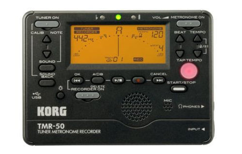 Korg Black Tuner/Metronome with Recorder TMR50-BK - L.A. Music - Canada's Favourite Music Store!
