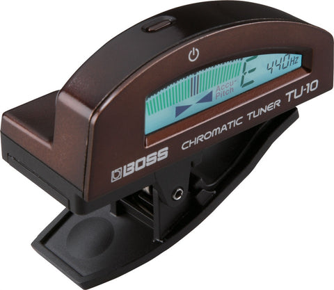 Boss TU-10-BN Clip-On Chromatic Tuner, Brown - L.A. Music - Canada's Favourite Music Store!