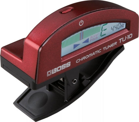 Boss TU-10-RD Clip-On Chromatic Tuner, Red - L.A. Music - Canada's Favourite Music Store!