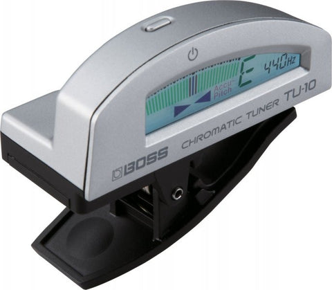 Boss TU-10-SV Clip-On Chromatic Tuner, Silver - L.A. Music - Canada's Favourite Music Store!
