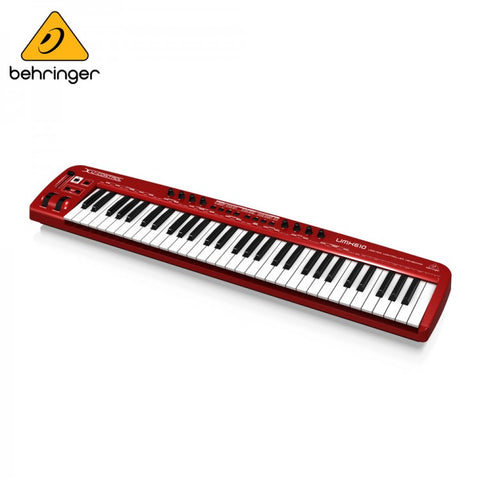 Behringer U- Control UMX610 61-Key USB MIDI Controller Keyboard  With USB Audio Interface