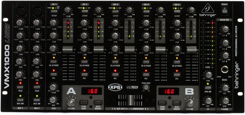 Behringer VMX1000USB Professional 7-Channel Rack-Mount DJ Mixer  With USB Audio Interface  BPM Counter  VCA Control