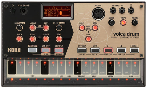 Korg Synthesized Drum Machine with 16 Step-Sequencer 6 parts VOLCADRUM