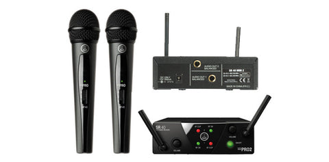AKG WMS 40 MINI 2 Vocal Set - Dual System US45A/C (Analog) - L.A. Music - Canada's Favourite Music Store!