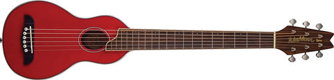Washburn RO10TR RoverSteel String Travel Guitar Trans Red