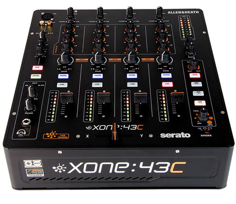 Allen & Heath Xone:43c - 4 Chan DJ Mixer w/ Serato Sound Card