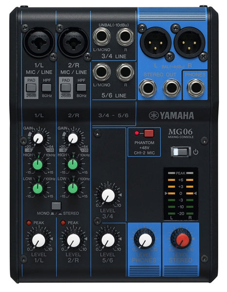 Yamaha MG06 4-channel Compact Mixer