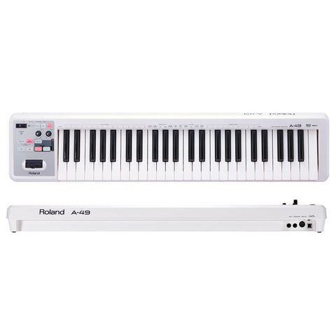 Roland A-49-WH MIDI Keyboard Controller (White)