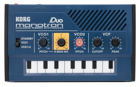 Korg Monotron Duo Analog Synth with built in speaker,audio input,2 oscillators with X-Mod (cross mod of the osc)
