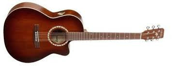 Art & Lutherie Folk Cutaway Cedar Antique Burst QI Acoustic Electric Guitar 033034