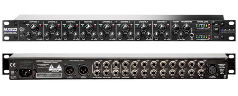 Art Pro Audio MX822 8 Channel Stereo Rackmount Mixer