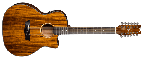 Dean AXS EXOTIC CUTAWAY Acoustic Electric 12 STRING KOA