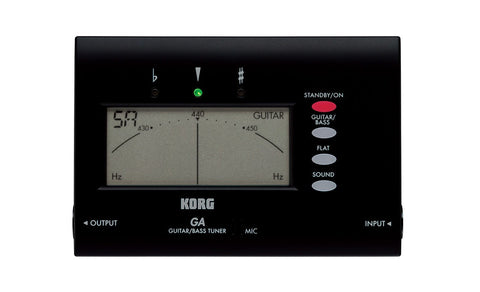 Korg GA-40 Electronic Guitar and Bass Tuner - L.A. Music - Canada's Favourite Music Store!