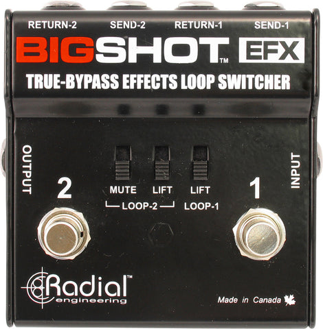 Radial BigShot EFX True bypass effects loop controller with two discreet loops
