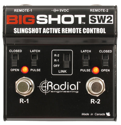 Radial BigShot SW2 Slingshot remote control with 2 outputs, pulse & latch, LEDs