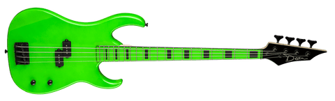 DEAN Custom Zone Nuclear Green Bass