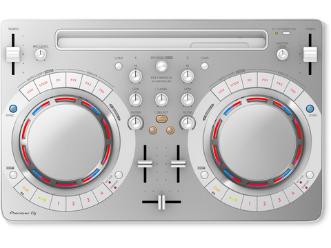 Pioneer DJ DDJ-WeGO4 PC/Mac/Tablet DJ Controller - White - L.A. Music - Canada's Favourite Music Store!