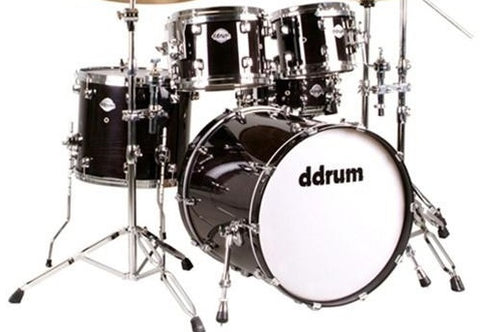 DDRUM DM22BLK Dominion 22 5 Piece Maple Player Black Drumkit Shell Pack