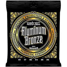 Ernie Ball Aluminum Bronze Medium Acoustic Guitar Strings EBP02564