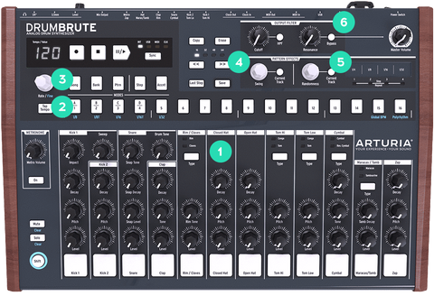 Arturia Drum Brute Creation Hardware Synth DRUMBRUTESE