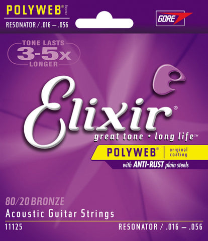 Elixir Acoustic Guitar 6 String NanoWeb Resonator 11125 - L.A. Music - Canada's Favourite Music Store!