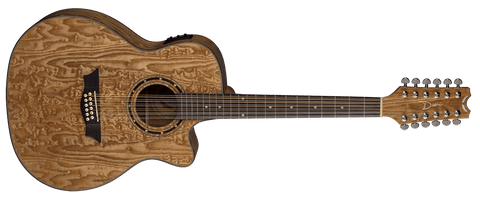 Dean EXOTICA QUILT ASH ACOUSTIC ELECTRIC 12 STRING GLOSS NATURAL