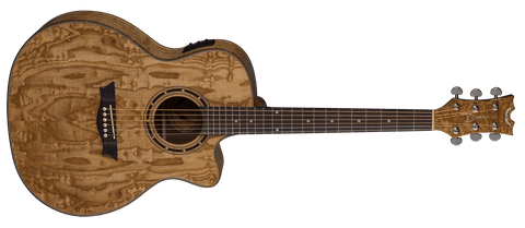 Dean EXOTICA QUILT ASH ACOUSTIC ELECTRIC GLOSS NATURAL