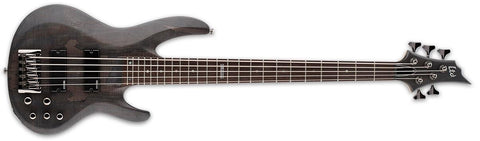ESP LTD B-205SM STBLKS Spalted Maple Trans Black 5 string Bass - L.A. Music - Canada's Favourite Music Store!