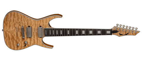 DEAN EXILE SELECT 7 STRING QUILT TOP SATIN NATURAL NEW FOR 2020