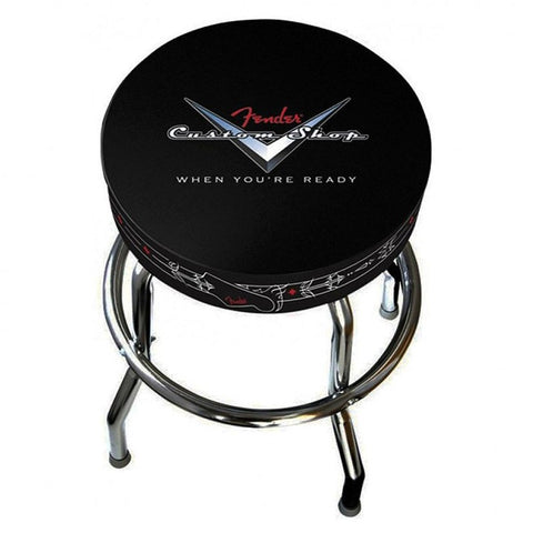 "Fender 24"" Custom Shop Pinstripe Logo Barstool - 09902300 - L.A. Music - Canada's Favourite Music Store!"