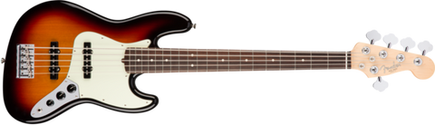 American Professonal Jazz Bass V Rosewood Neck 3 Tone Sunburst 0193950700 - L.A. Music - Canada's Favourite Music Store!