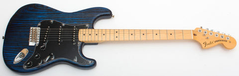 Fender Limited Edition Sandblasted Stratocaster with Ash Body, Maple Fingerboard, Sapphire Blue Transparent 170173327