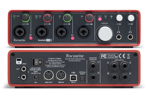 Focusrite Scarlett18i8 Scarlett 18i8 Audio Interface - L.A. Music - Canada's Favourite Music Store!