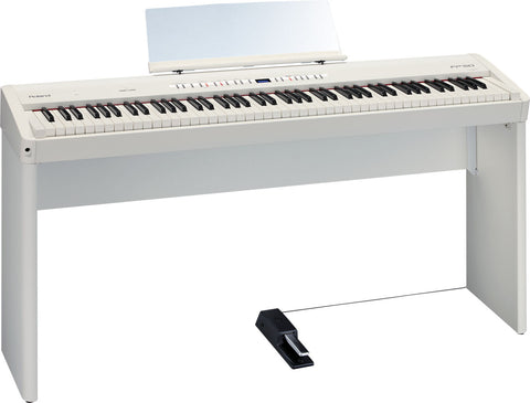 Roland FP-50 White Digital Piano With Stand