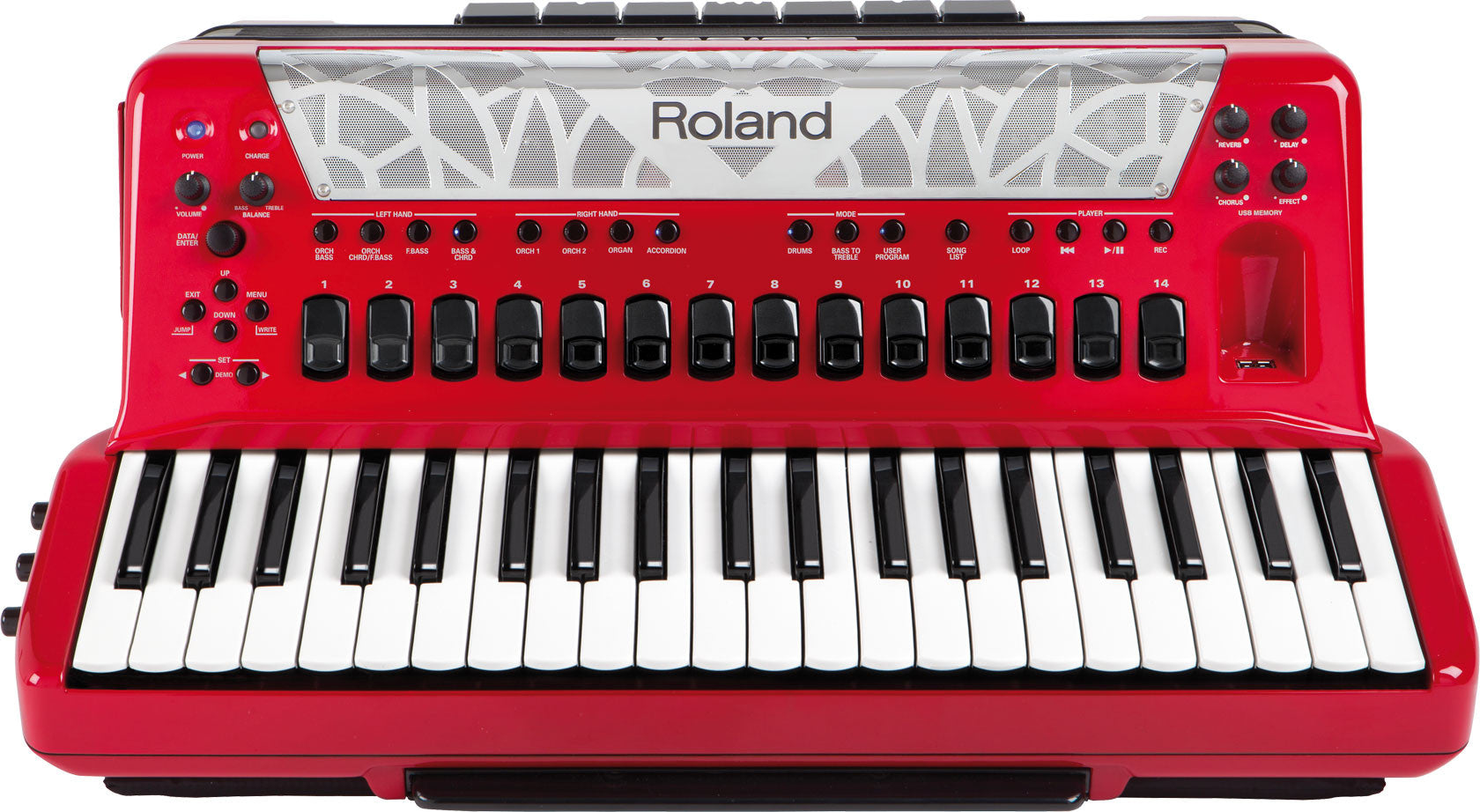 Roland FR-8X-RD Red Piano type V-Accordion | L A  Music - Canada's