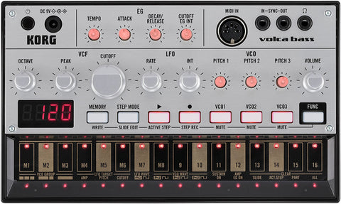 Korg Analog Bass Machine with 16 Step Sequencer VOLCA BASS - L.A. Music - Canada's Favourite Music Store!