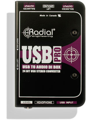 Radial USB-Pro Stereo Digital Direct Box