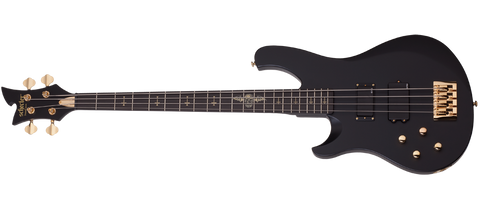 Schecter JOHNNY-CHRIST-4LH-SBK Satin Black 4 String Bass with EMG Active MMCS/81 SCH-212