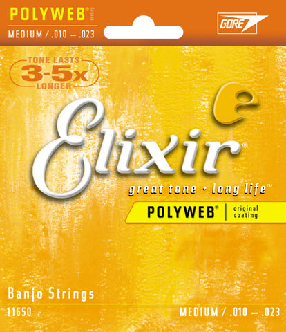 Elixir Banjo 5 String PolyWeb Medium 11650 - L.A. Music - Canada's Favourite Music Store!